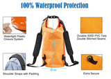 Orange 10 Lt Waterproof Roll Top Backpack
