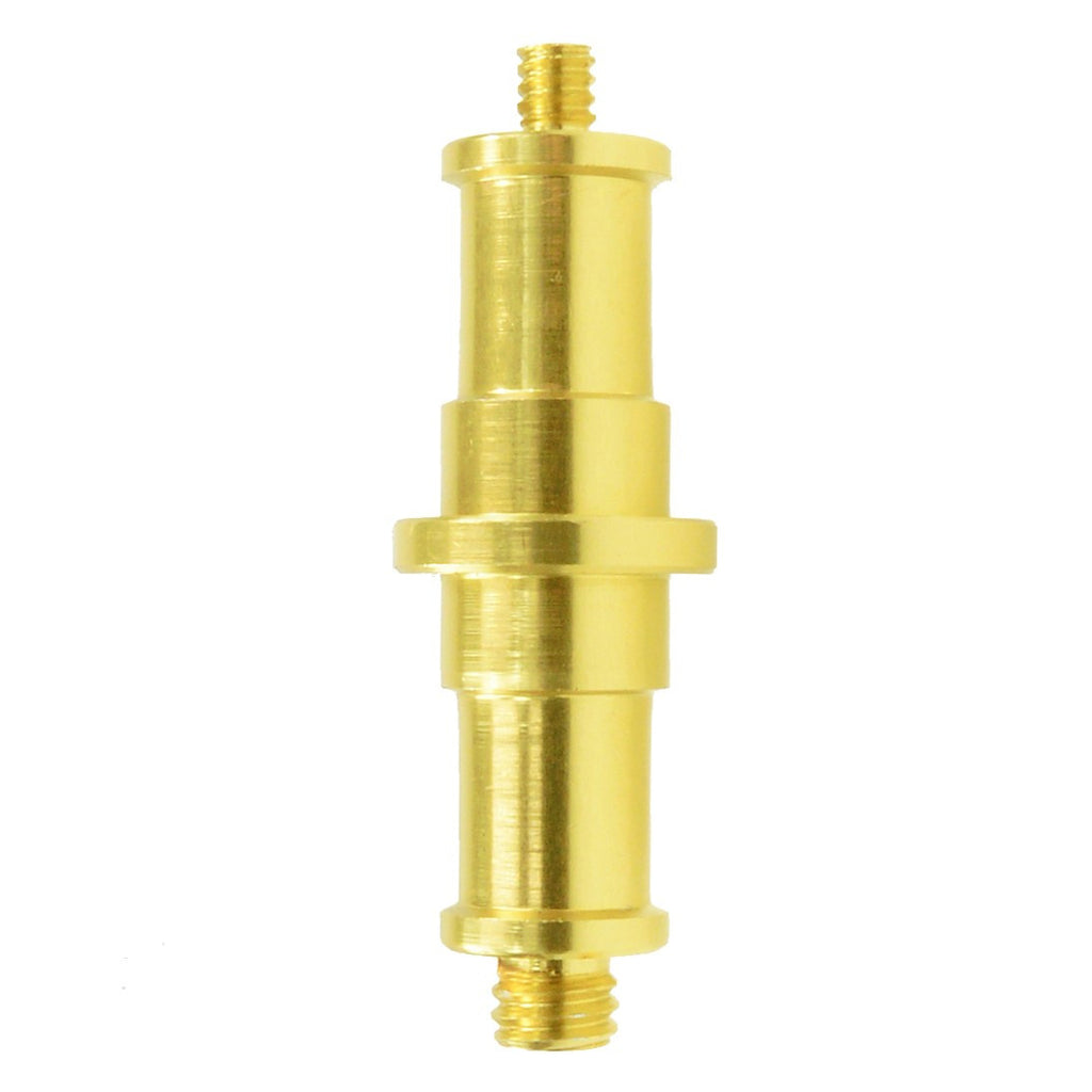 "Foto&Tech Gold Plated 1/4"" M-3/8"" M Threaded Screw Adapter"