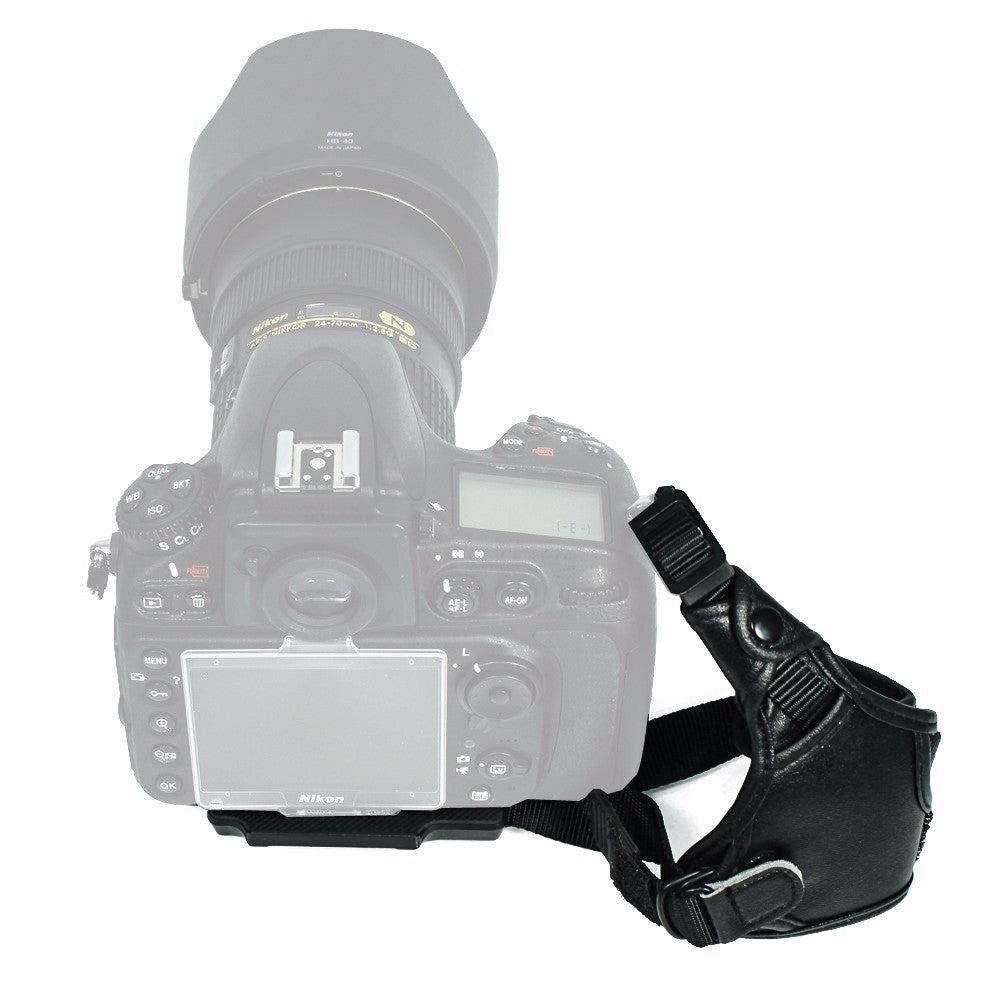 LEATHER Wrist Grip Compatible with Canon(1 PC, Black)