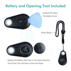 4in1 Bluetooth Selfie Remote Control for iPhone (Black)