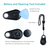 Foto&Tech Wireless Remote Control Camera Video Shutter Release Selfie 30FT Compatible with iPhone XR XS X 8 8+ 7 7+ 6 6s+ 5S 5C iPad Air Samsung Galaxy S10 S9 S8 HTC iOS Android Smartphone (Black)