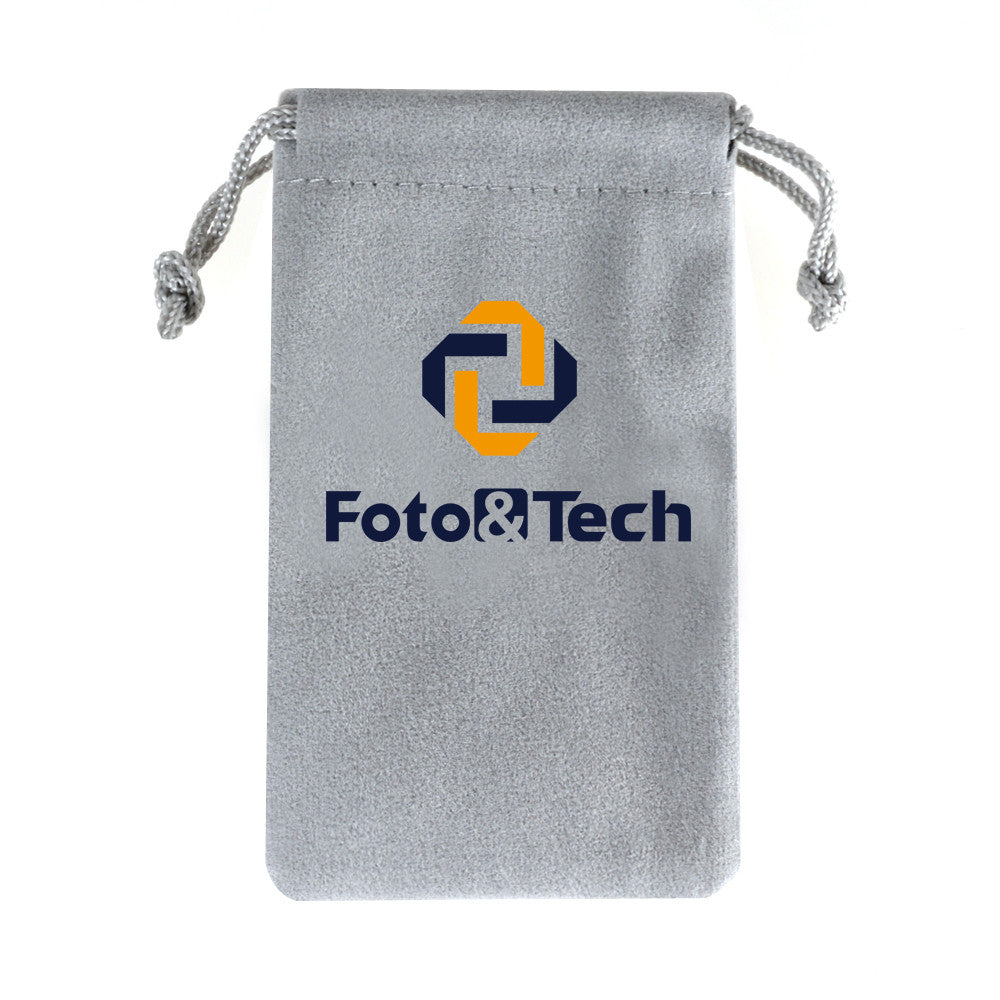 Foto&Tech Soft Gray Velvet Bag