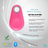 Bluetooth Selfie Remote for iPhone Android Smartphone (Pink)