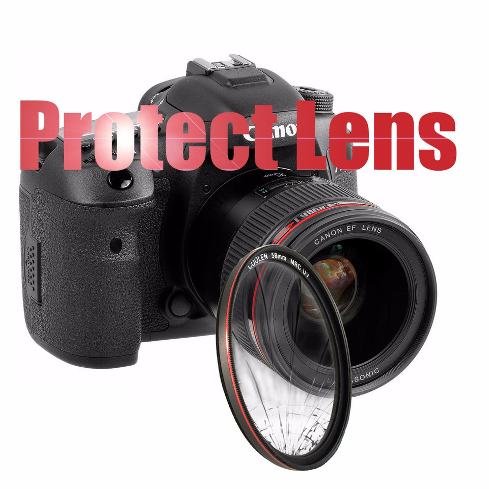 Coolen 58mm Ultra Thin MRC UV Filter Protector Frame Red