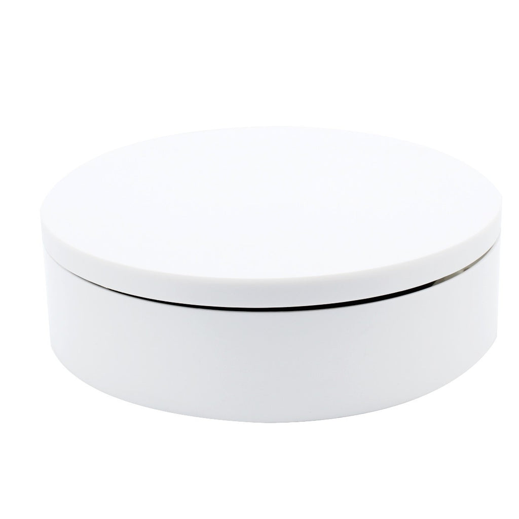 "Foto&Tech Electric 8"" Turntable-Matte White Finish"