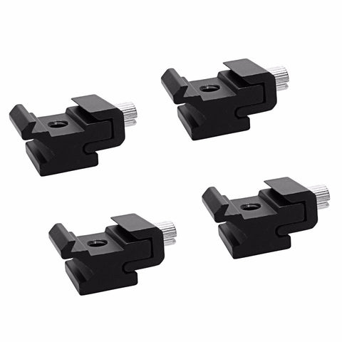 Foto&Tech 4 Pieces Hot Shoe Flash to Bracket/Stand Mount Adapter Trigger