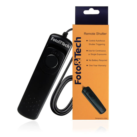 Foto&Tech Wired Remote Shutter Release Control Compatible with NIKON MC-DC2 for Nikon D3300