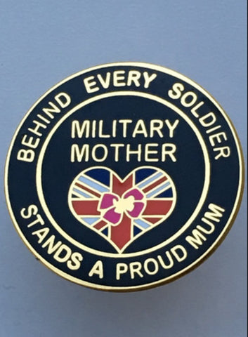 Military Mother Soldier Lapel Badge