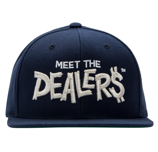 Meet The Dealers Navy & Silver Snapback