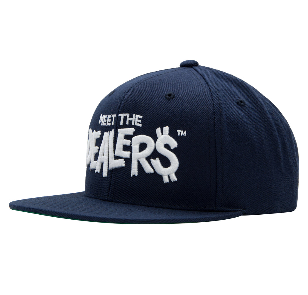 Meet The Dealers Navy & White Snapback