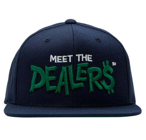 Meet The Dealers Navy & Green Snapback