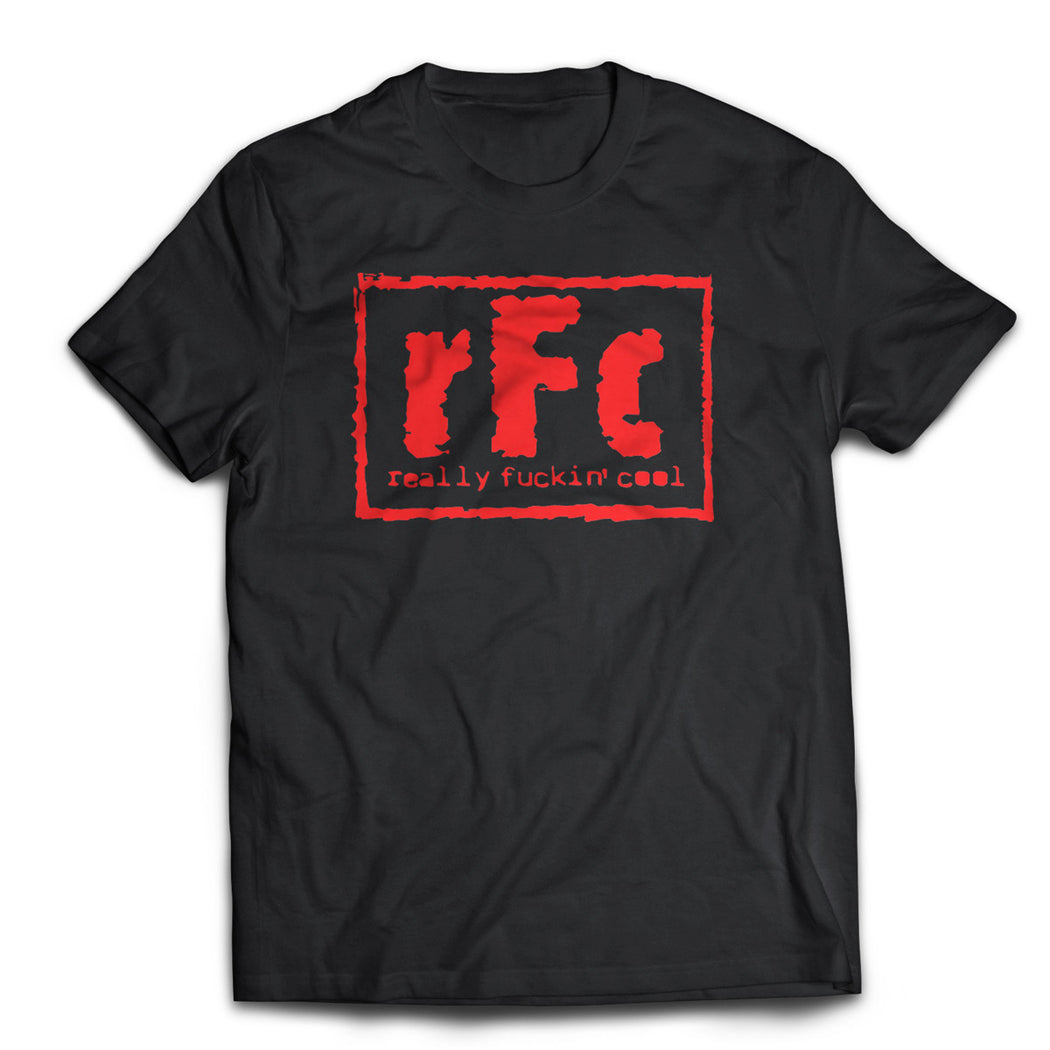 Really Fuckin Cool Tour Merch Tee Black w/ Red Ink