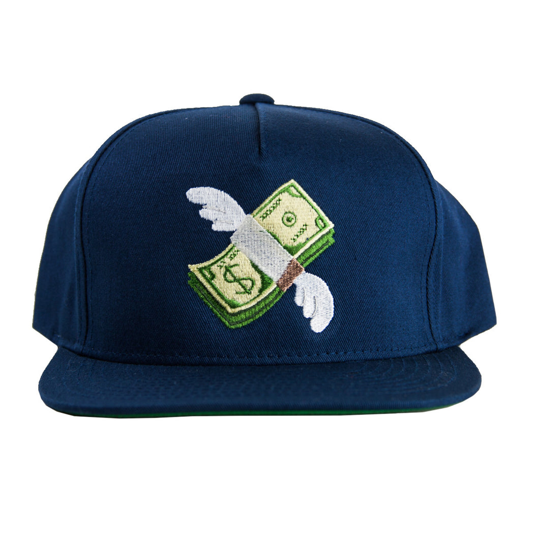 Navy Shmoney 5 Panel Snapback