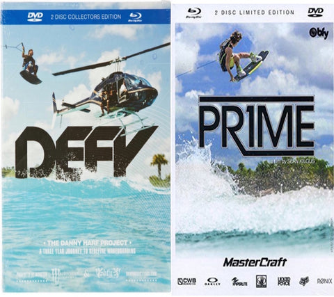 Defy DVD/Blu-Ray and Prime DVD/Blu-ray Wakeboard 2-pack
