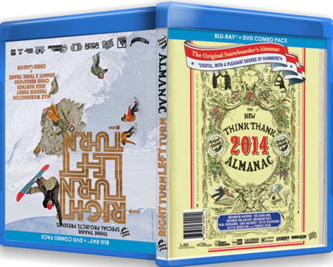 Almanac & Right Turn Left Turn Snowboard DVD & Blu Ray ComboT