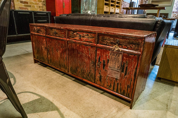 Red Lacquered Poplar Buffet