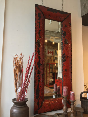 Lacquered Mirror Red & Black