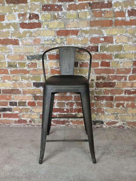 Counter Height Stool in Gun Metal