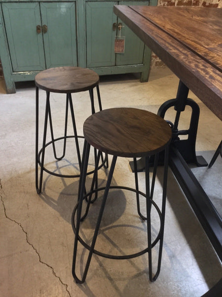 Reclaimed Wood Round Stool