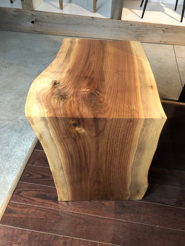 Walnut Waterfall Side Table