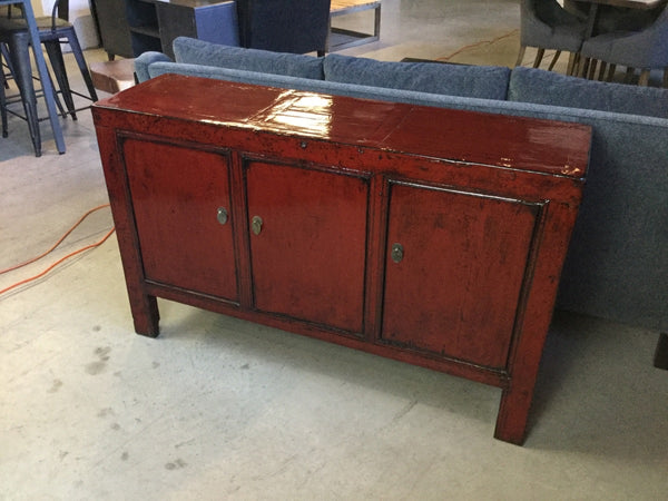 Early 20th Century Red Lacquered Buffet