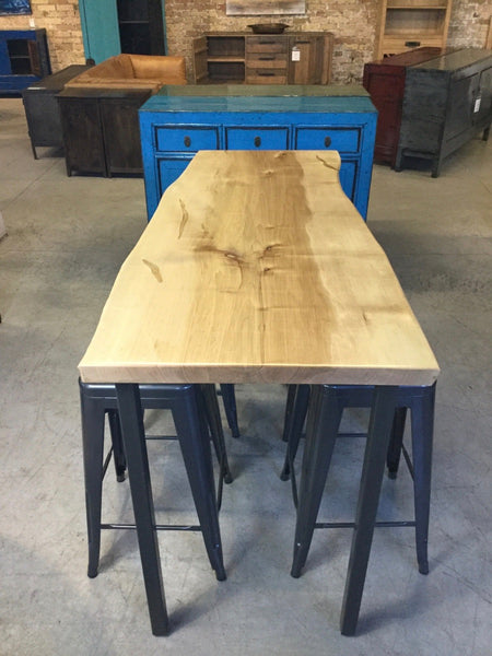 Solid Maple - Single Slab Counter Height Table