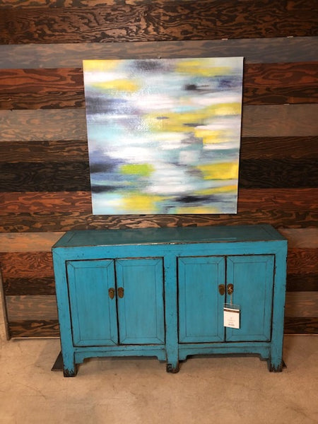 4 Door Turquoise Lacquered Buffet