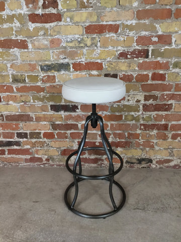Vintage Leather Adjustable Bar Stool