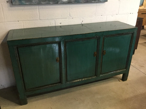Circa 1940 Evergreen Lacquered Buffet