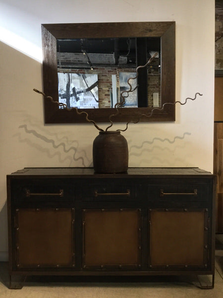 Mango & Iron Buffet/Media Cabinet
