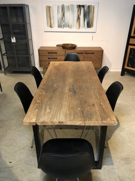 Distressed Elm Dining Table