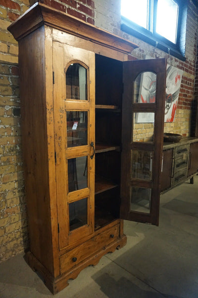 Solid Teak Display Cabinet