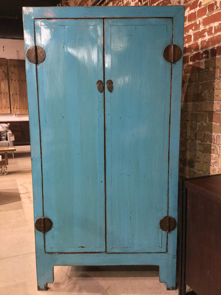 Turquoise Lacquered Armoire Circa 1940