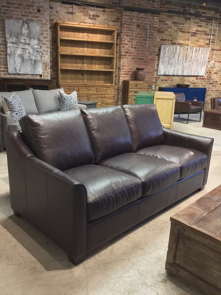 Leather Sofa 77""