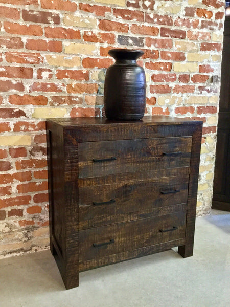 Distressed Mango 3 Drawer Chest