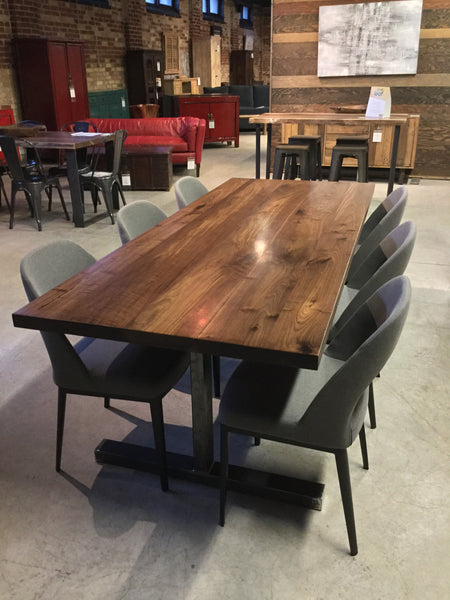 Straight Edge Walnut Dining Table