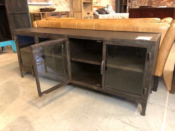 Iron & Glass Media Cabinet