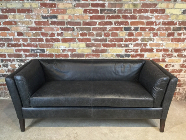 Vintage Leather Condo Sofa 71""