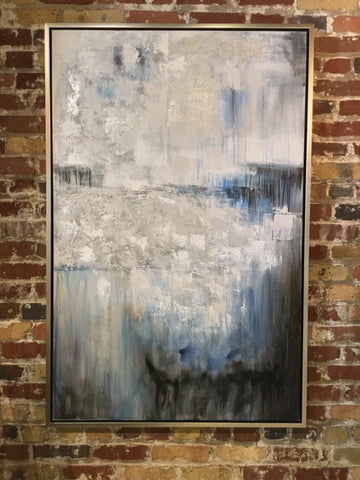 Hand painted Abstract Framed Canvas