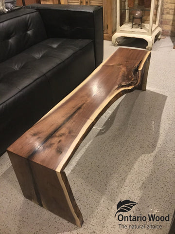 Live Edge Walnut Waterfall Coffee Table Ow