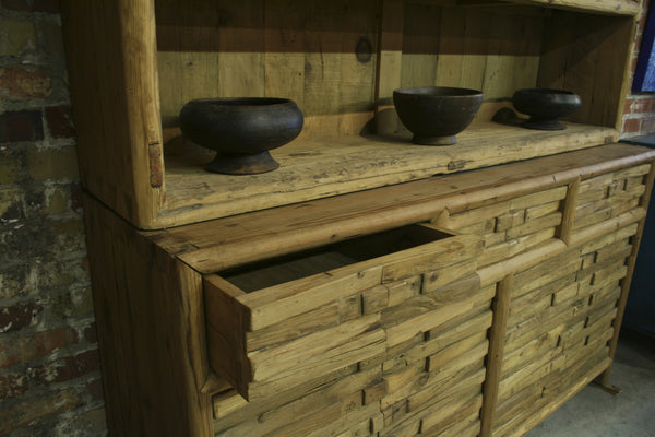 2 Piece Reclaimed Poplar Buffet & Shelf