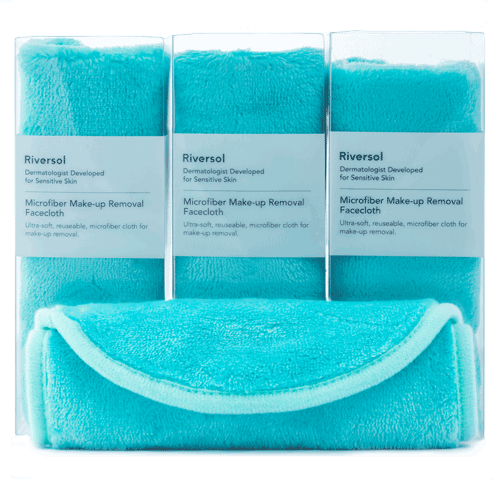3 Pack of Microfibre Makeup Removal Facecloth