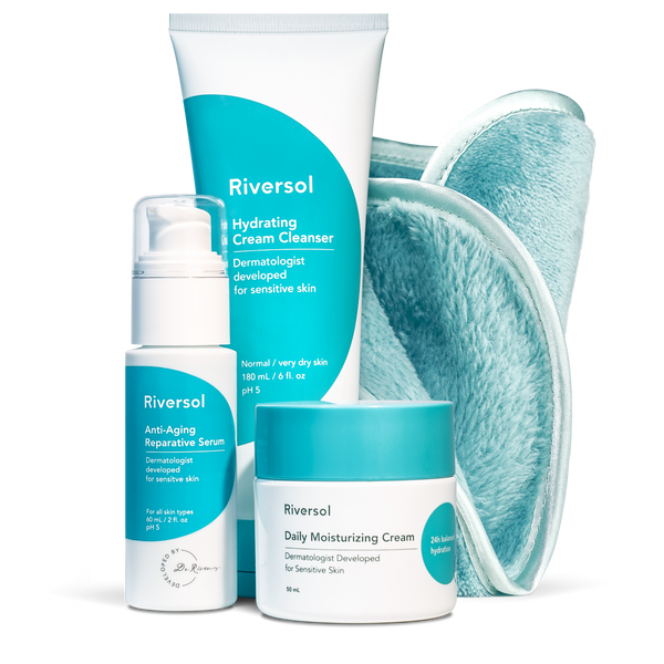 Anti-Aging Trio and FREE Make-up Removal Facecloth