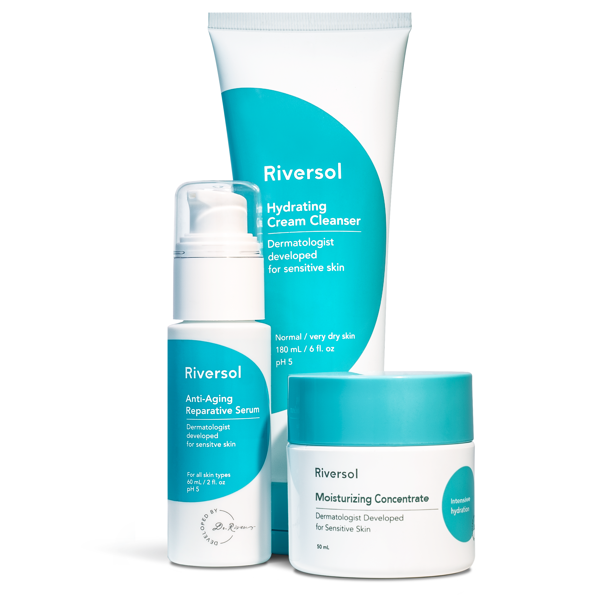 Anti-Aging Trio, Very Dry Skin | Riversol Dermatologist Developed