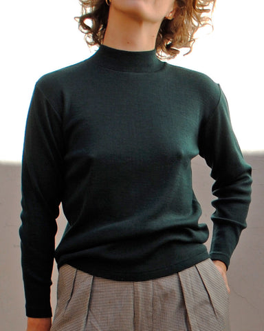 forest mock-neck sweater