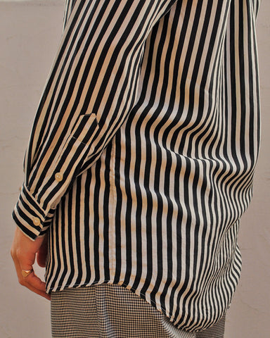 silk stripe blouse