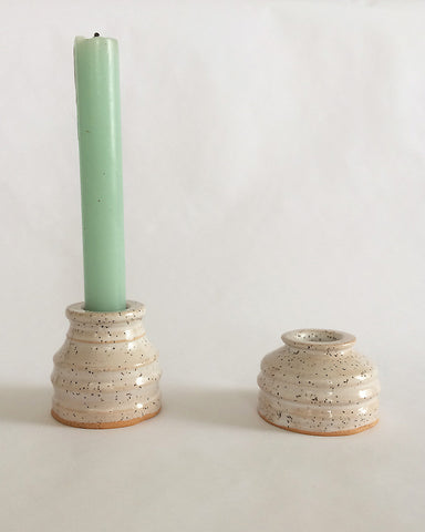 christine portillo x mono-ha candle holder pair