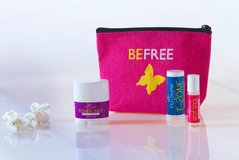Blossom Bag - The perfect chemical free kit for your teen or tween. Spot stick, deo, T-zone face wash