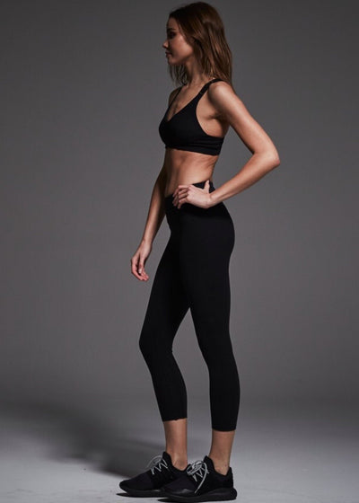 Athletic Legging - Varley Camden Cropped Legging In Black