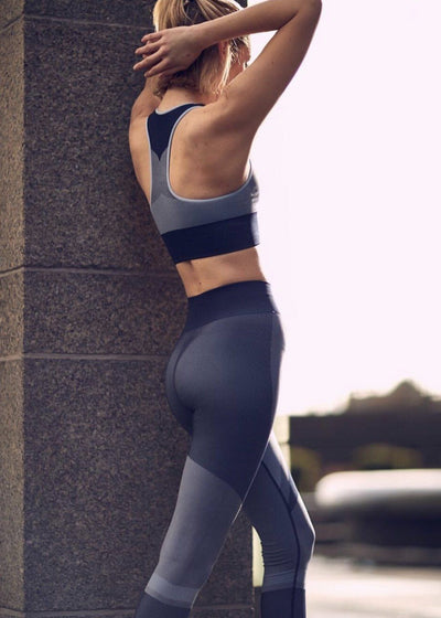 Athletic Legging - Varley Clara Legging In Blue Multi Jacquard